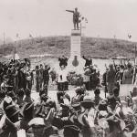 Monumento ai caduti Campo sportivo. Giugno 1927: Cerimonia di inaugurazione del Monumento ai Caduti